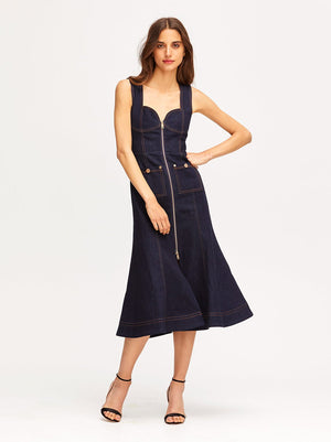 Bloomsbury Midi Dress Indigo