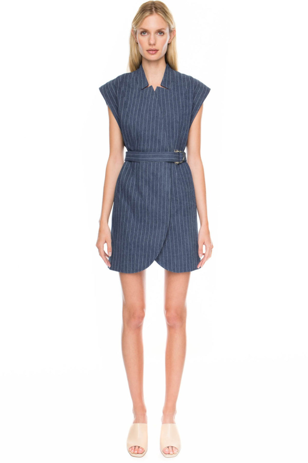 STAY COOL PINSTRIPE DRESS