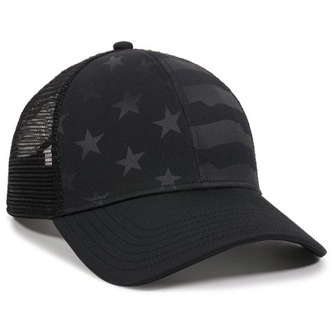 Outdoor Cap USA-750M Debossed Stars and Stripes Mesh Cap -Limit 2