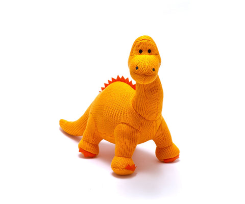 Dinosaur Rattle - Orange Dippy