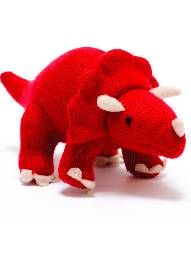 Knitted Triceratops red - Pikku