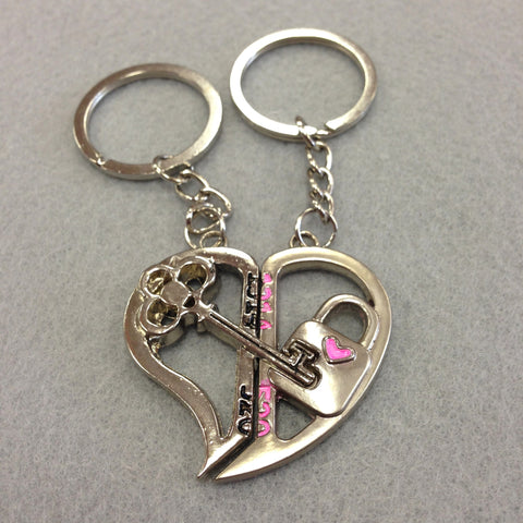 Key and Lock Couples Keychain