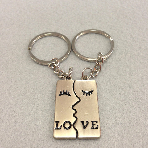 Love Puzze Piece Couples Keychain