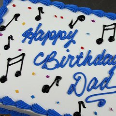 Butter Cream Musical Notes Cake Design