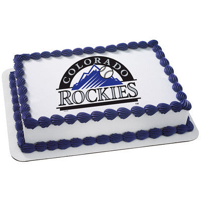 MLB Colorado Rockies Photo Cake