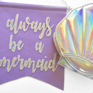 Always Be a Mermaid Feltie + Purse - Glambanners - 6