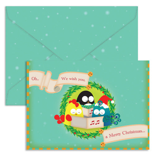 UFF single christmas card with envelope