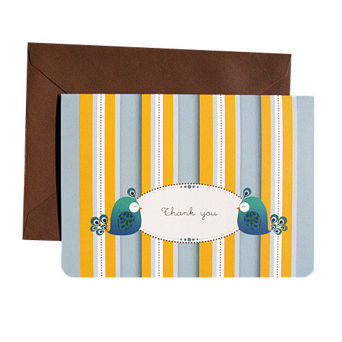 UFF peacock single card with envelope