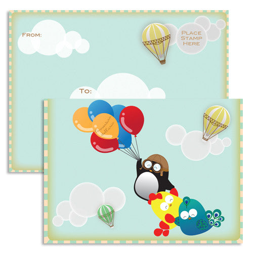 United Feathered Friends™ - Everyday Air Adventure Single Note Card