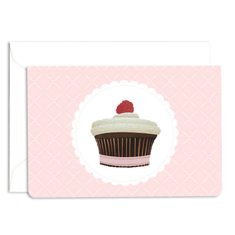 Dolce raspberry glitter note card