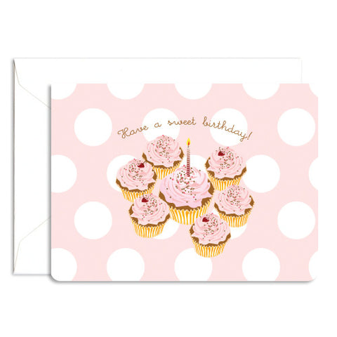 Dolce sweet cupcake note card