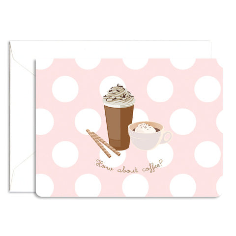 Dolce folded coffee note card