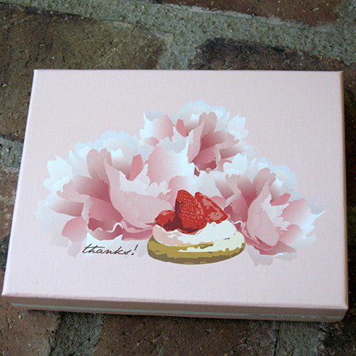 Dolce thank you notes strawberry tart