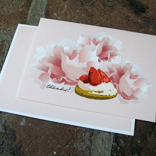 Dolce boxed thank you notes strawberry