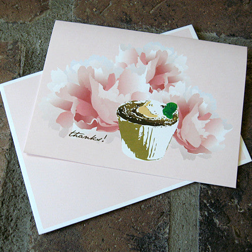 Dolce souffle thank you card