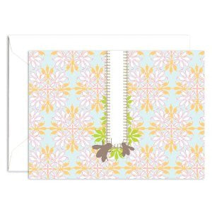 Signature Line Boxed Honey Bees Notecards in Blue
