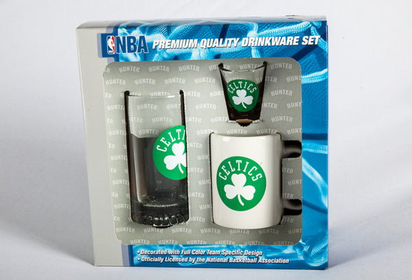 Boston Celtics 3 Peice Drink Fan Set