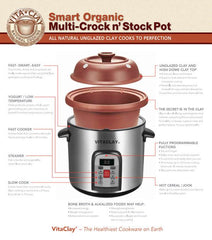 Vita Clay Replacement ClayPot Set for Rice N' Slow Cooker Model VM-7800-5C