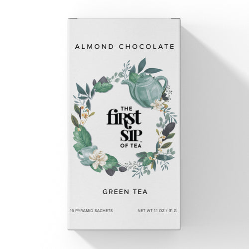 Almond Chocolate Green Tea - 16 ct. Tea Box