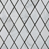 "Carrara White Marble Polished 1"" Diamond Mosaic Tile - American Tile Depot - Commercial and Residential (Interior & Exterior), Indoor, Outdoor, Shower, Backsplash, Bathroom, Kitchen, Deck & Patio, Decorative, Floor, Wall, Ceiling, Powder Room - 2"