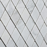 "Carrara White Marble Polished 1"" Diamond Mosaic Tile - American Tile Depot - Commercial and Residential (Interior & Exterior), Indoor, Outdoor, Shower, Backsplash, Bathroom, Kitchen, Deck & Patio, Decorative, Floor, Wall, Ceiling, Powder Room - 3"
