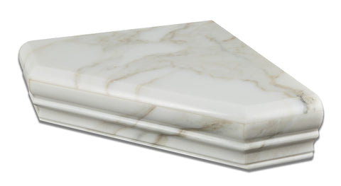 Calacatta Gold Marble Hand-Made Custom Shower Corner Shelf - Polished - American Tile Depot - Commercial and Residential (Interior & Exterior), Indoor, Outdoor, Shower, Backsplash, Bathroom, Kitchen, Deck & Patio, Decorative, Floor, Wall, Ceiling, Powder Room - 1