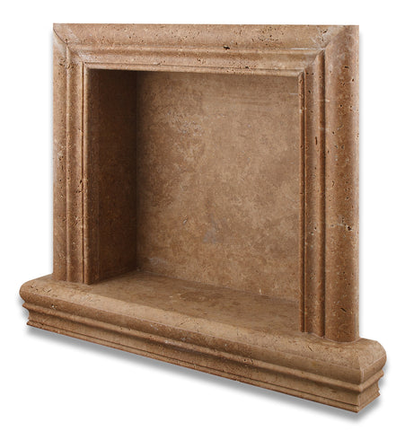 Noce Travertine Hand-Made Custom Shampoo Niche / Shelf - SMALL - Honed - American Tile Depot - Commercial and Residential (Interior & Exterior), Indoor, Outdoor, Shower, Backsplash, Bathroom, Kitchen, Deck & Patio, Decorative, Floor, Wall, Ceiling, Powder Room - 1