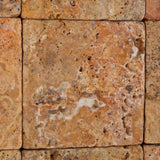 4 X 4 Scabos Travertine Tumbled Field Tile - American Tile Depot - Commercial and Residential (Interior & Exterior), Indoor, Outdoor, Shower, Backsplash, Bathroom, Kitchen, Deck & Patio, Decorative, Floor, Wall, Ceiling, Powder Room - 3