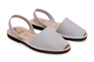 Mibo Avarcas Stone Leather Menorcan Sandals
