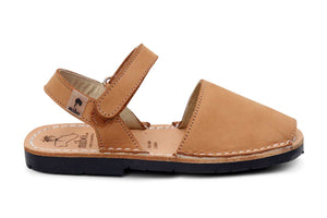 Mibo Avarcas Tan Hook & Loop Menorcan Sandals