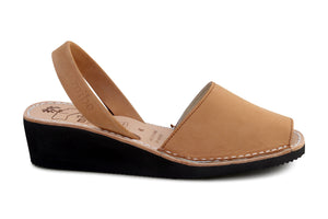 Mibo Avarcas Tan Wedges Menorcan sandals