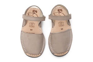 Mibo Taupe Hook & Loop Kids