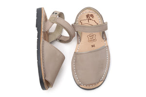 Mibo Taupe Hook & Loop Small Kids