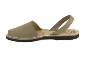 Mibo Avarcas Women's Classics Taupe Leather Slingback Sandals