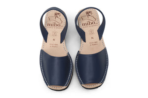 Mibo Navy Wedge Avarcas