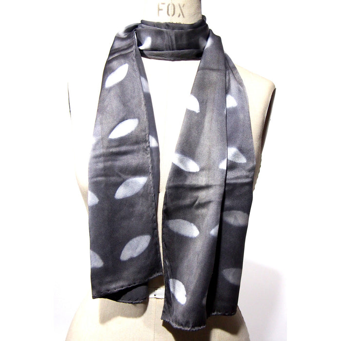 Grey Leaf Scarf