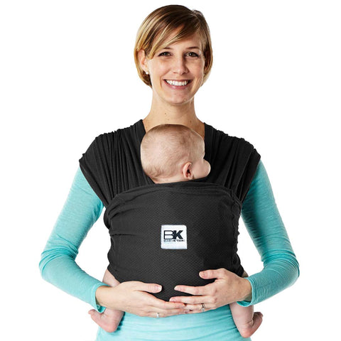 Baby K'tan Mesh Breeze Baby Carrier - Black-Baby Carriers- Natural Baby Shower