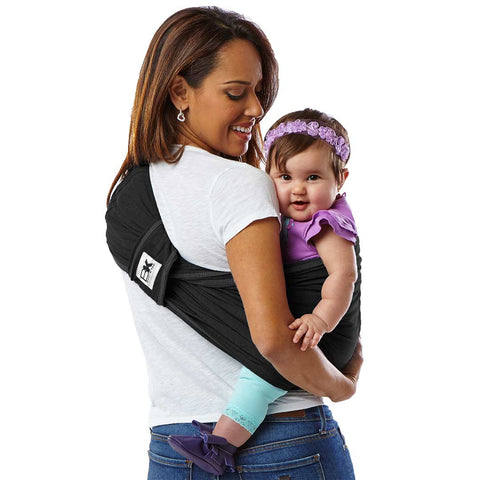 Baby K'tan Original Cotton Baby Carrier - Black-Baby Carriers- Natural Baby Shower