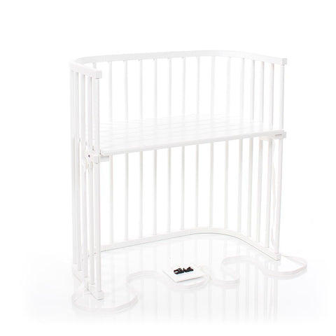 BabyBay Boxspring Bedside Crib - White-Cribs-Default- Natural Baby Shower