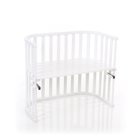 BabyBay Maxi Advance Bedside Crib - Bright White-Cribs-Default- Natural Baby Shower