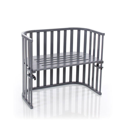BabyBay Maxi Advance Bedside Crib - Platinum Grey-Cribs-Default- Natural Baby Shower