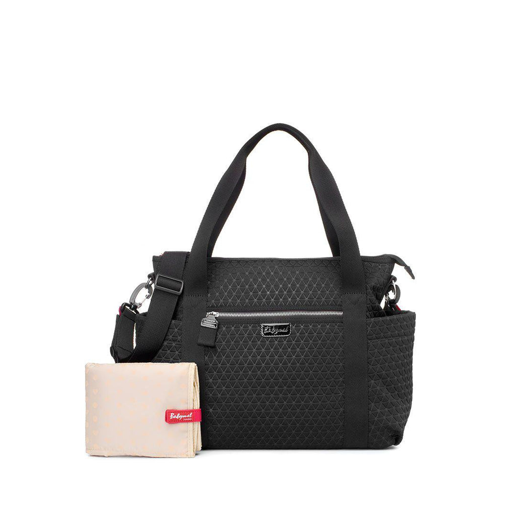 Babymel Cara Ultra Lite Changing Bag - Black Scuba-Changing Bags- Natural Baby Shower