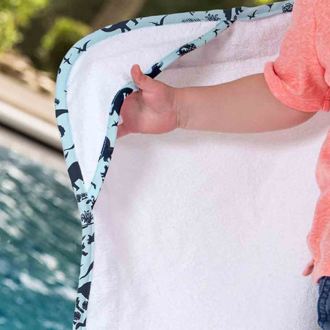 Bebe Au Lait Hooded Baby Towel - Dinomite-Towels & Robes-0-24m-Dinomite- Natural Baby Shower
