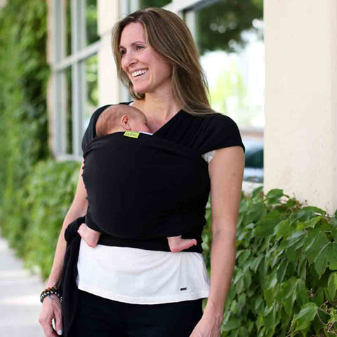 Boba Bamboo Wrap - Black-Baby Carriers-Default- Natural Baby Shower