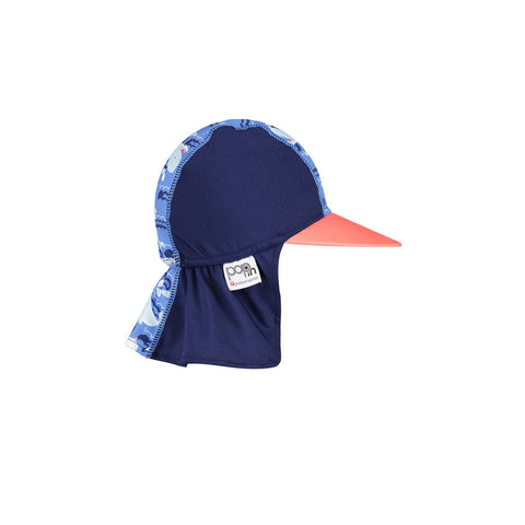 Close Sunhat - Whale-Hats- Natural Baby Shower