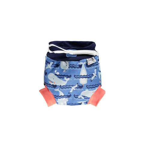 Close Swim Nappy - Whale-Swim Nappies- Natural Baby Shower