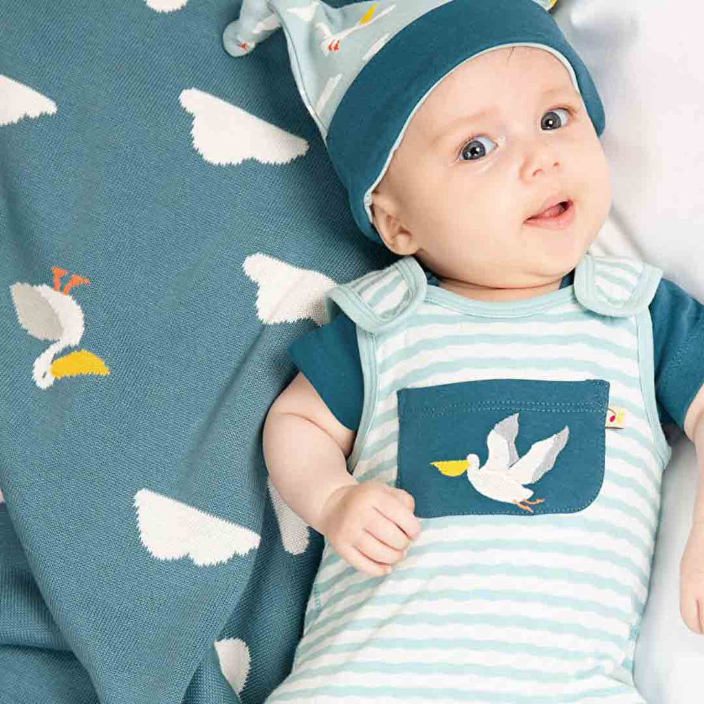 Frugi Welcome Home Blanket - Rockpool Pelicans-Blankets- Natural Baby Shower