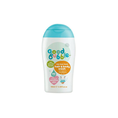 Good Bubble Bish Bash Bosh! Hair & Body Wash with Cloudberry Extract - 100ml-Baby Skincare- Natural Baby Shower