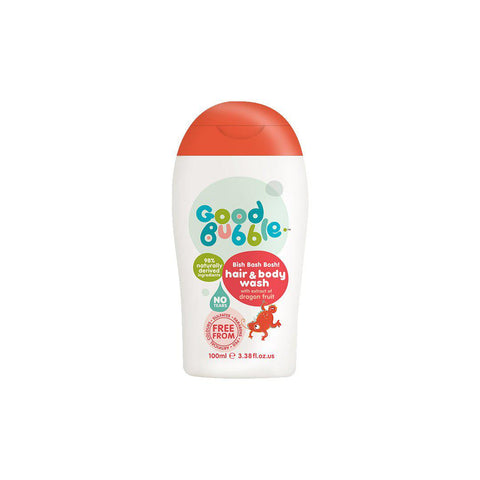 Good Bubble Bish Bash Bosh! Hair & Body Wash with Dragon Fruit Extract - 100ml-Baby Skincare- Natural Baby Shower