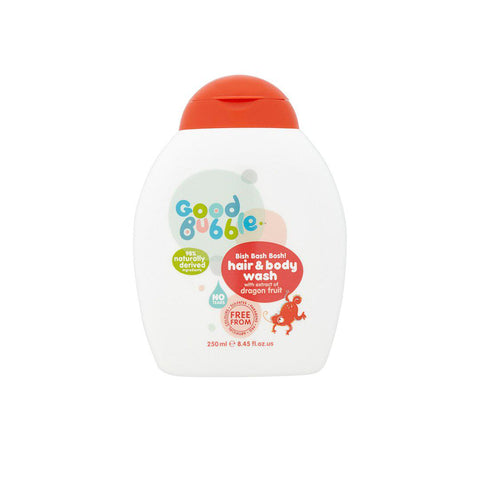Good Bubble Bish Bash Bosh! Hair & Body Wash with Dragon Fruit Extract - 250ml-Baby Skincare- Natural Baby Shower